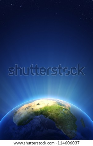 Earth Radiant Light Series - Africa (Elements of this image furnished by NASA- earthmap  http://visibleearth.nasa.gov)