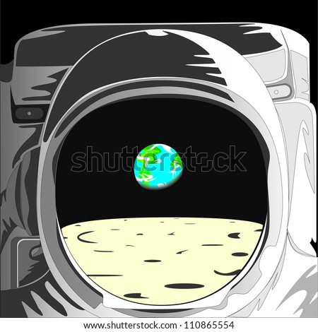 Astronaut Helmet Reflection DrawingAstronaut Helmet Drawing