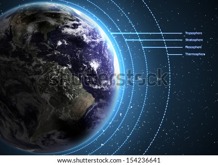 Earth's Atmosphere. Elements of this image furnished by NASA