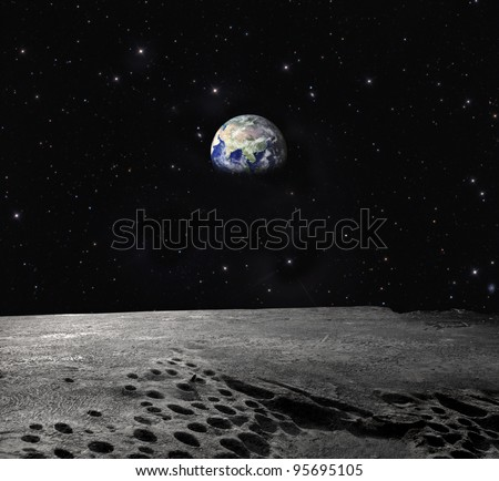 Earth seen from the Moon \