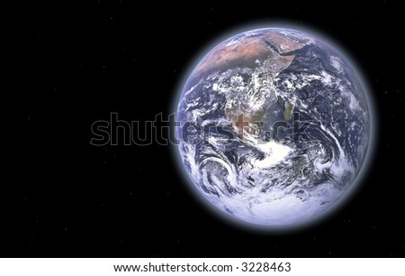 Earth Series - images depicting panoramic scenic shots of our planet; composite images and illustrations - stock photo