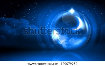 Earth symbol of the new year on our planet. Happy New Year and Merry Christmas