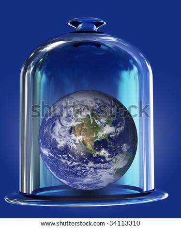 earth under bell glass