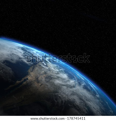 Earth view from outer space. \