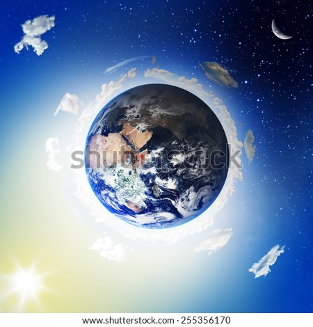 Earth. View from space. Elements of this image furnished by NASA