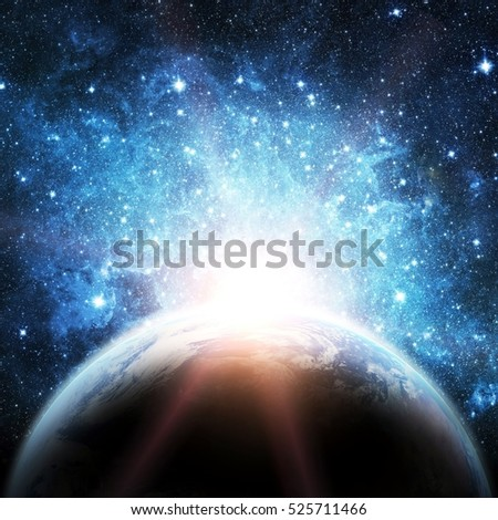 Earth. View from space. Elements of this image furnished by NASA #525711466