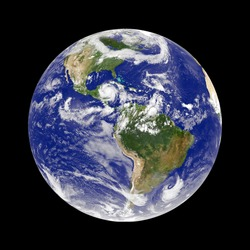 earth with hurricane