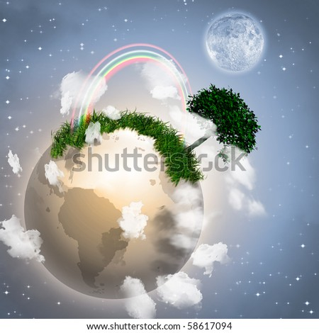 Earth with Tree