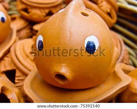 Earthenware fish shaped