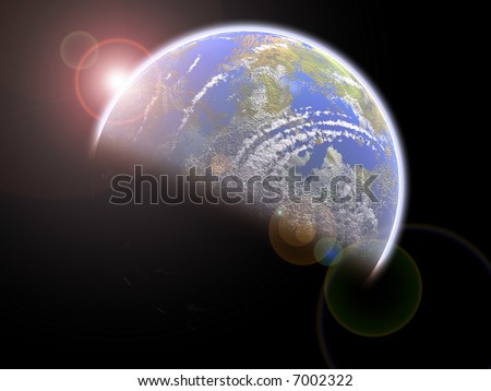 Earthlike Blue planet