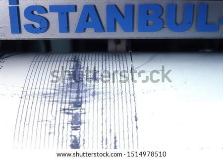 Earthquake in Istanbul. Earthquake, Marmara earthquake, seismic movements concept. Horizontal close-up shot.