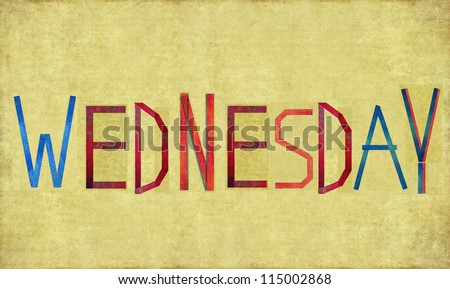 """Earthy background and design element depicting the word """"Wednesday"""""""