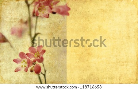 Earthy floral background image and design element