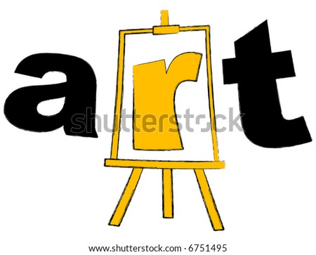 easel and the art sign