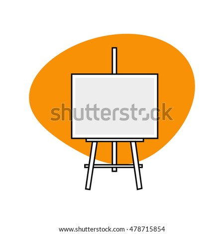 Easel Icon, Art Symbol, Art Studio Logo Isolated on White Background