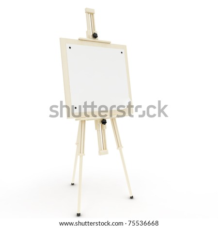 easel on the white background