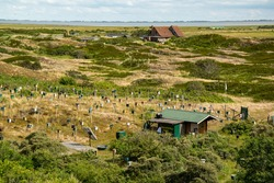 East Frisian island of Langeoog in the North Sea (Germany). The island is part of the wadden sea.