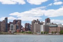 East Harlem Skyline along the East River in New York City