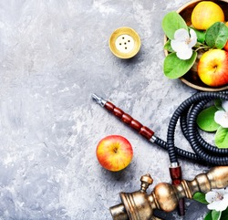 East hookah with the aroma apple for relax.Apple shisha.Shisha hookah