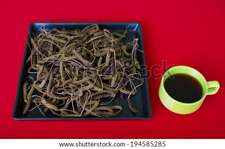 East Indian screw tree (Helicteres isora (L.),bring to boil and drink can have a bitter taste similar to tea.