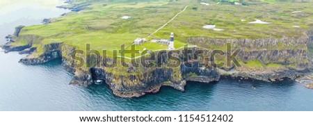 East Lighthouse Rathlin Island Aerial photo Atlantic Ocean Co. Antrim Northern Ireland Stock photo ©