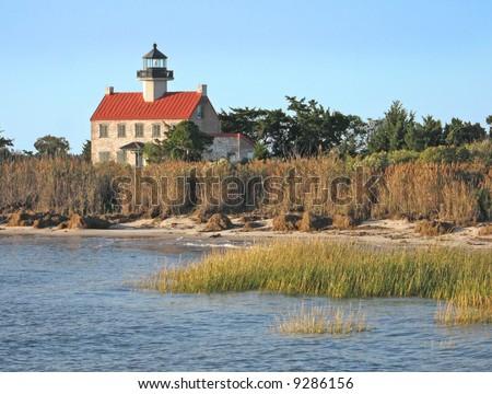 East Point Lighthouse near Thompson Beach, New Jersey