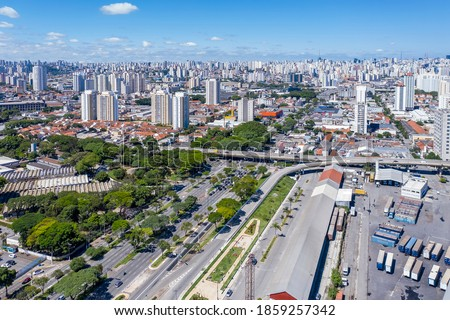 East radial avenue near Mooca neighborhood, Sao Paulo, Brazil Stockfoto ©