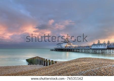 Eastbourne pier at sunset