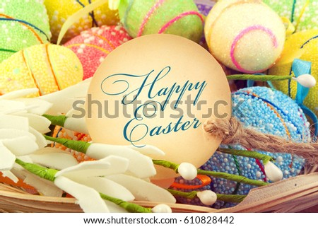 Easter background. Easter greeting card #610828442