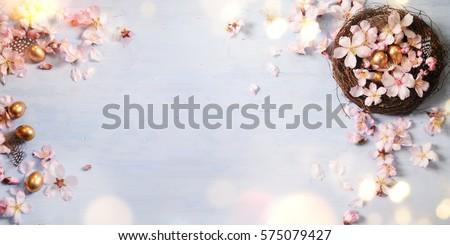 Easter background, Spring concept.