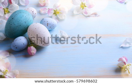 easter background with easter...
