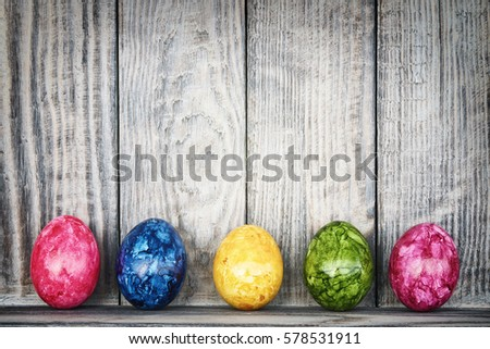Easter background with eggs                           - Shutterstock ID 578531911