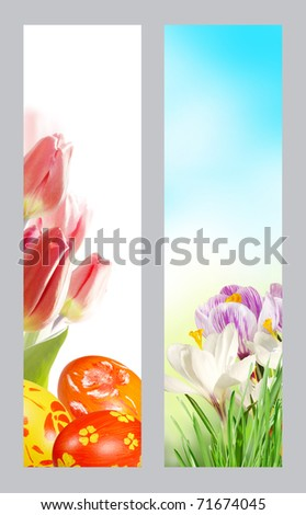 Easter Banners with room for your text.