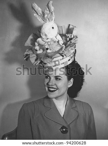 vintage easter bonnet