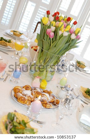 Easter Brunch Table Stock Photo 10853137 : Shutterstock