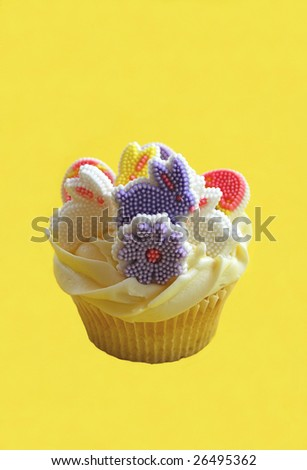 simple easter bunny cupcakes. stock photo : Easter Bunny