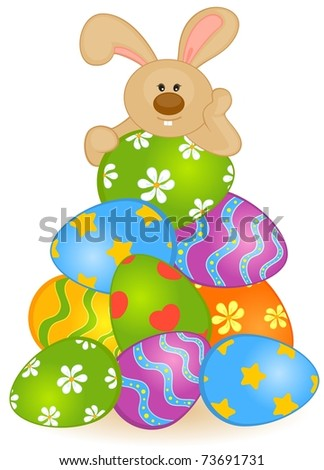 Easter bunnies and eggs cards for Call the easter bunny phone number