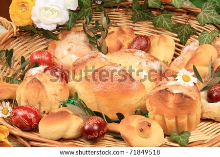 Easter cakes - stock photo