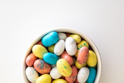 Easter candy to resemble a robin bird egg in pastel colors