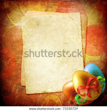 Easter card for the holiday with egg on the abstract background