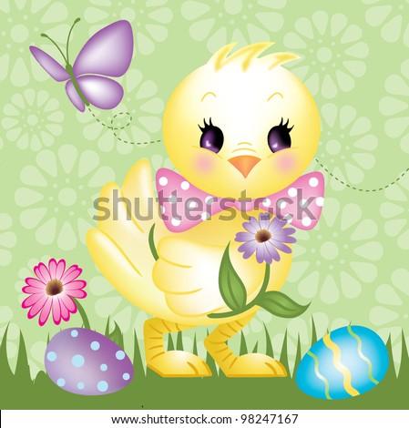 Easter chic design for cards, stationery, decorative original art