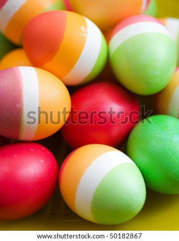 Easter colorful Eggs background