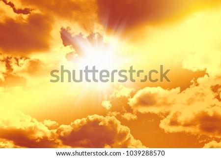 Easter concept background, He is risen celebration resurrection Sunday