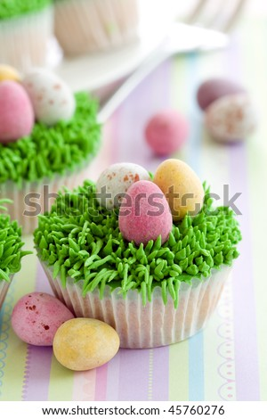 easter cupcakes pictures. stock photo : Easter cupcakes