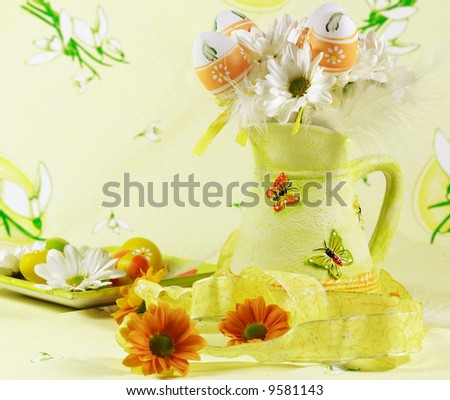 stock photo : Easter detail with Easter eggs or spring motive