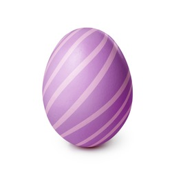 Easter egg isolated on a white background. Clipping path included