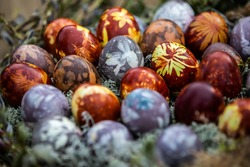 Easter egg, natural, colors, background, colorfu,l latvia, eggs, traditions