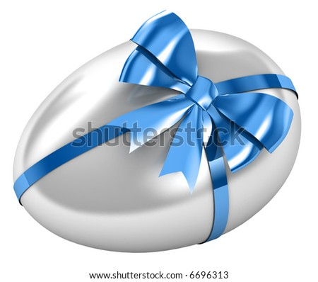 Easter egg with satin bow