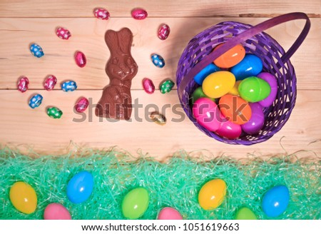 Easter Eggs and Bunny #1051619663
