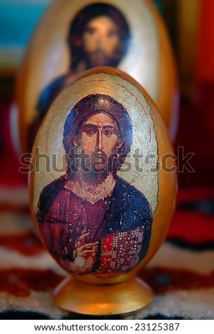 Easter eggs as christian symbol of Easter holiday
